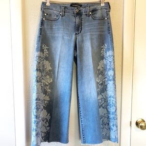 Liverpool Allison Crop Wide Leg Jeans Size 8